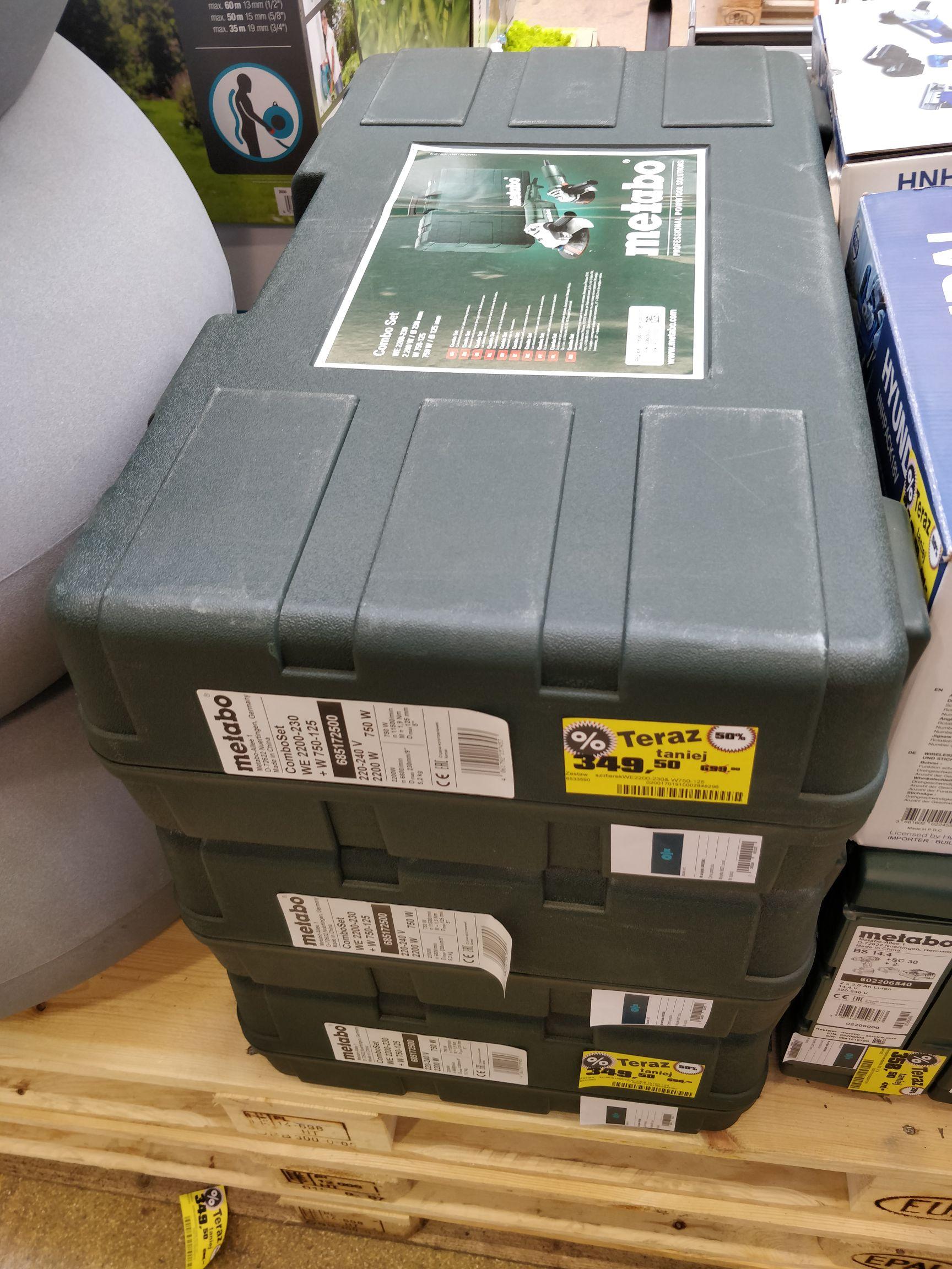 Metabo ComboSet Szlifierka x2 WE 2200-230 + W 750-125 Obi Puławska Wwa