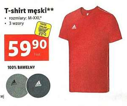 Bluzka/T-shirt Męska Adidas Lidl