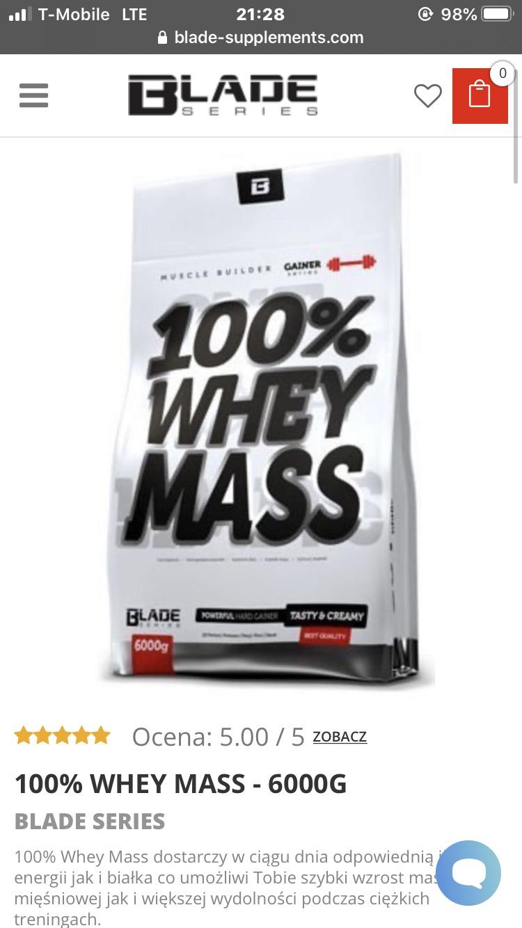 Odżywka białkowa 100% WHEY MASS 6000g