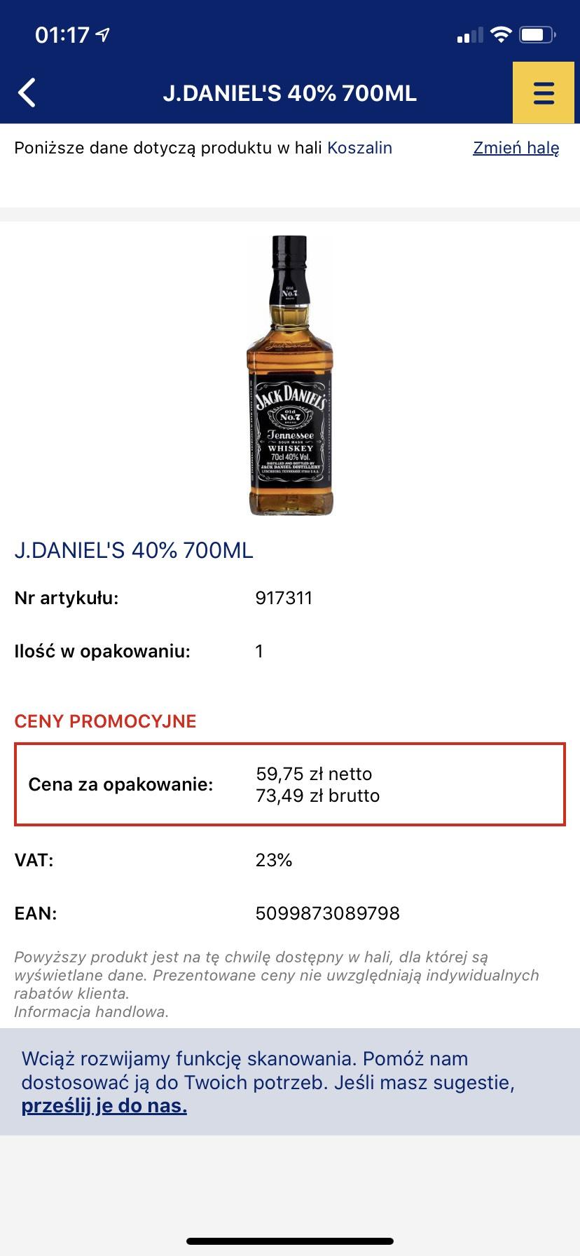 Jack Daniels 0,7