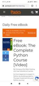 [Packt] Free Complete Python Video Course 34 godziny