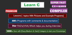 (Android Apps) Learn C Programming with Compiler [ Premium ] , Java Programming with Compiler & Videos [Premium] @ Google Play