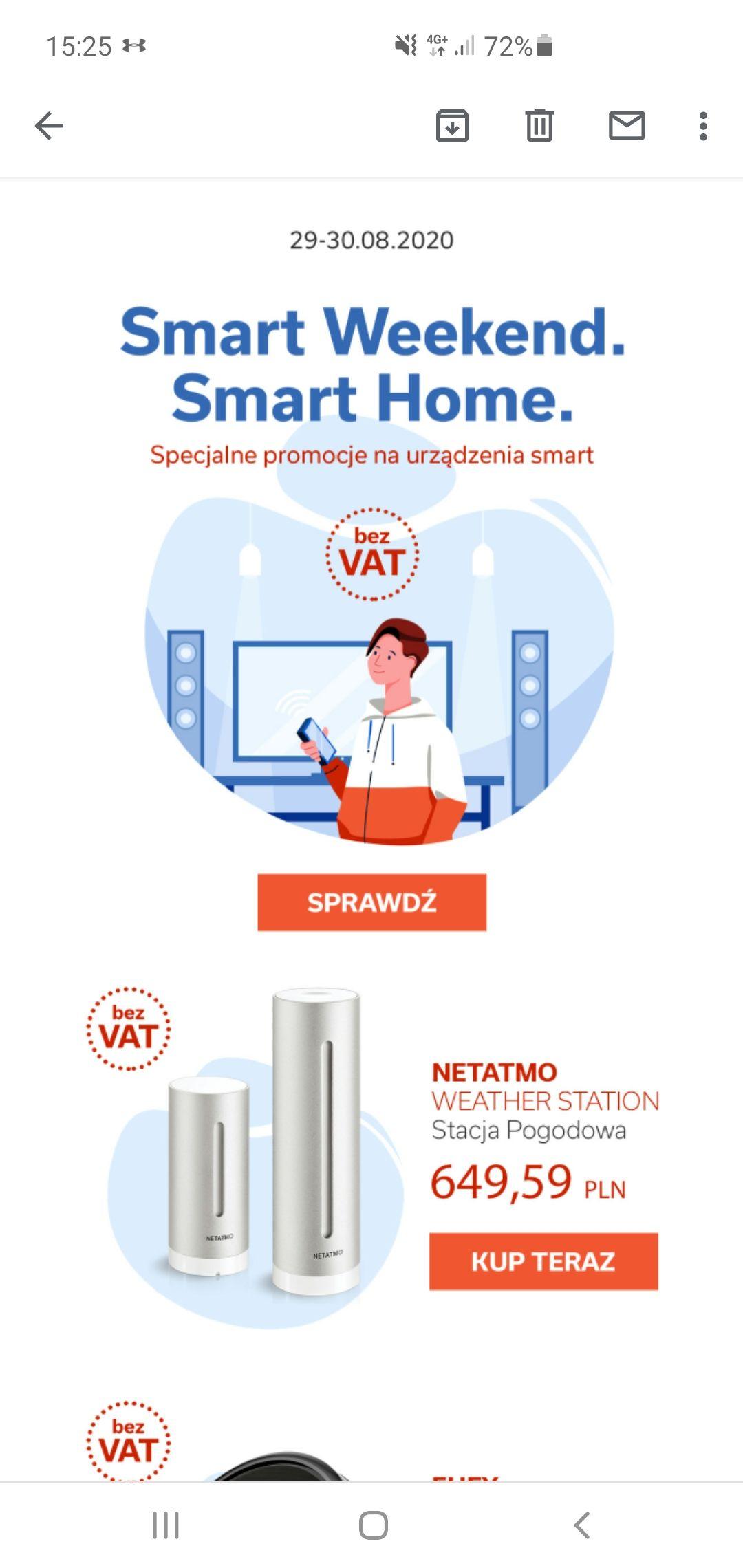 Smart weekend minus VAT tylko do końca dnia