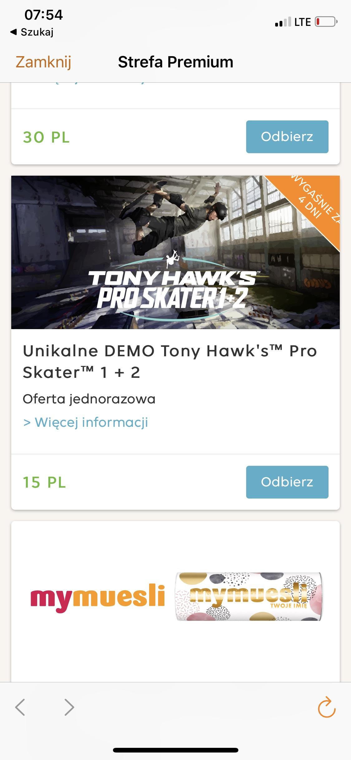 Tony hawk pro skater 1 i 2 demo ps4