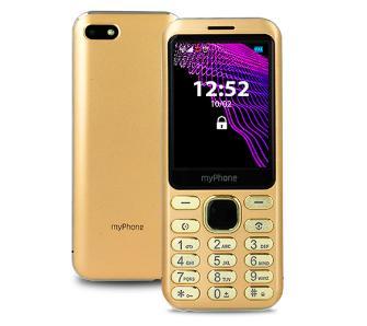 """Telefon komórkowy myPhone Maestro złoty, 2.8"""", 1000 mAh, BT, DualSIM, 2 Mpx z lampą błyskową LED, 9mm wysokości, metalowa ramka"""