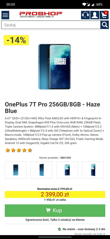 Oneplus 7t pro 8/256 haze blue