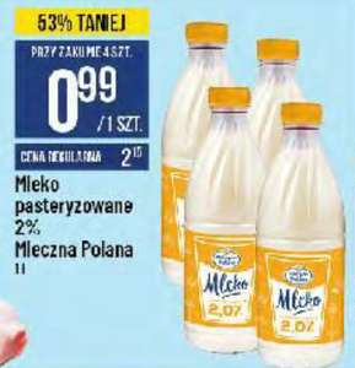 Mleko 2% Mleczna Polana 1l. Polo Market
