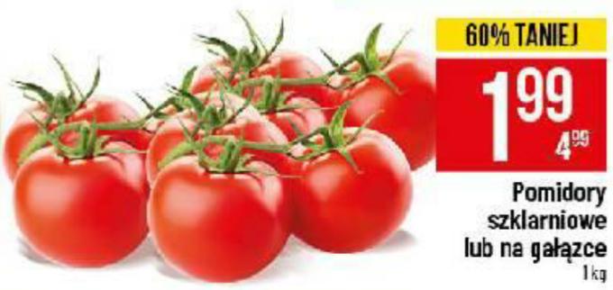 Pomidory szklarniowe lub na gałązce. Polo Market