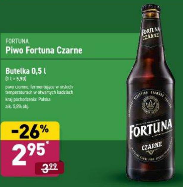Piwo Fortuna Czarne 0,5l. Aldi