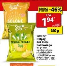 Chipsy Snack Day 150 g przy zakupie 2 opak. 3 rodzaje bez oleju palmowego @Lidl