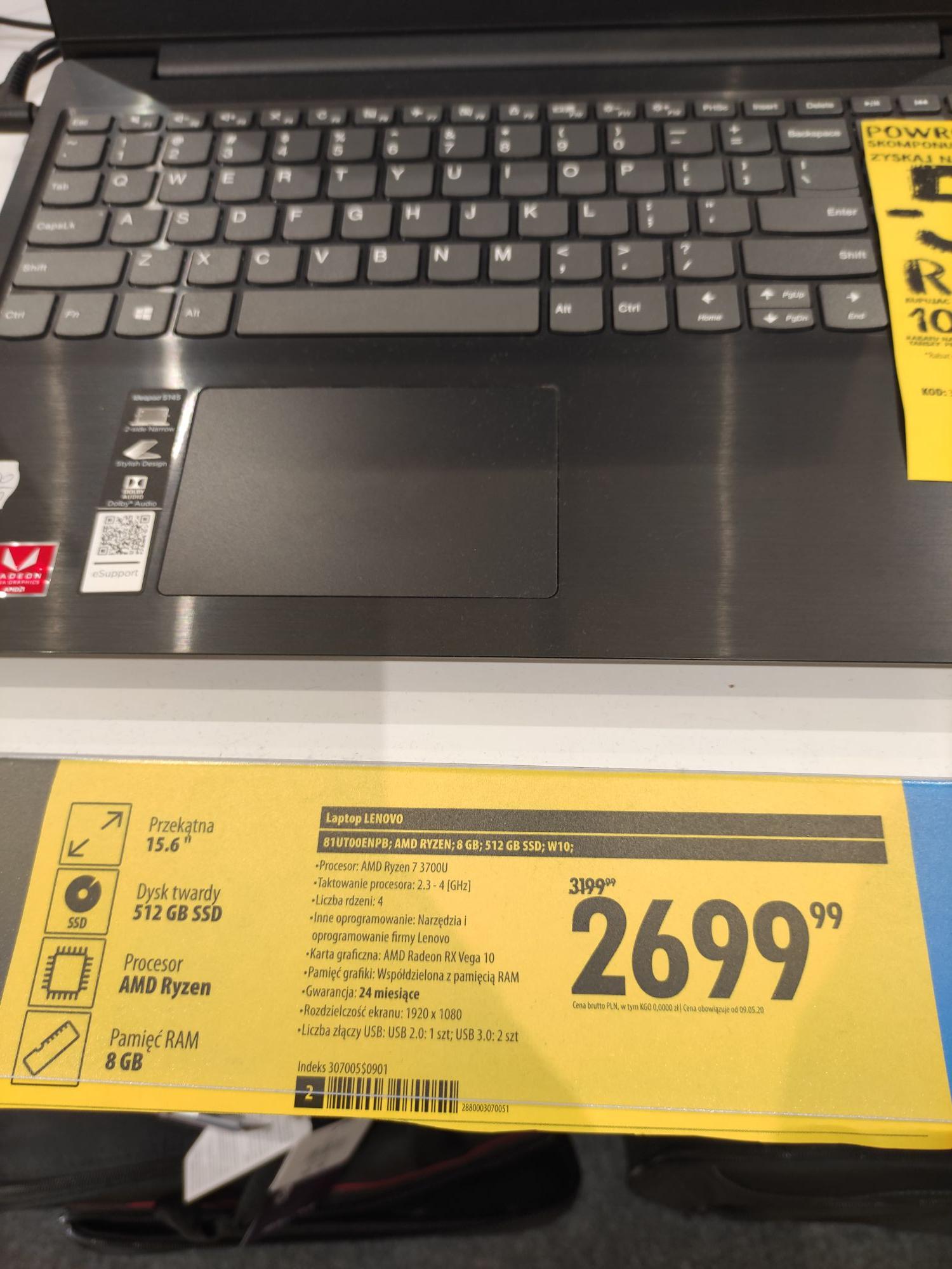 """Laptop Lenovo s145-15api ryzen 7-3700u 8gb 512ssd 15,6"""""""