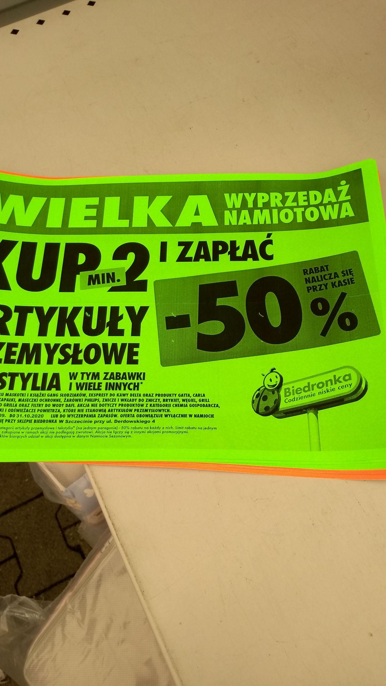 Outlet Biedronka (namiot) Derdowskiego Szczecin.
