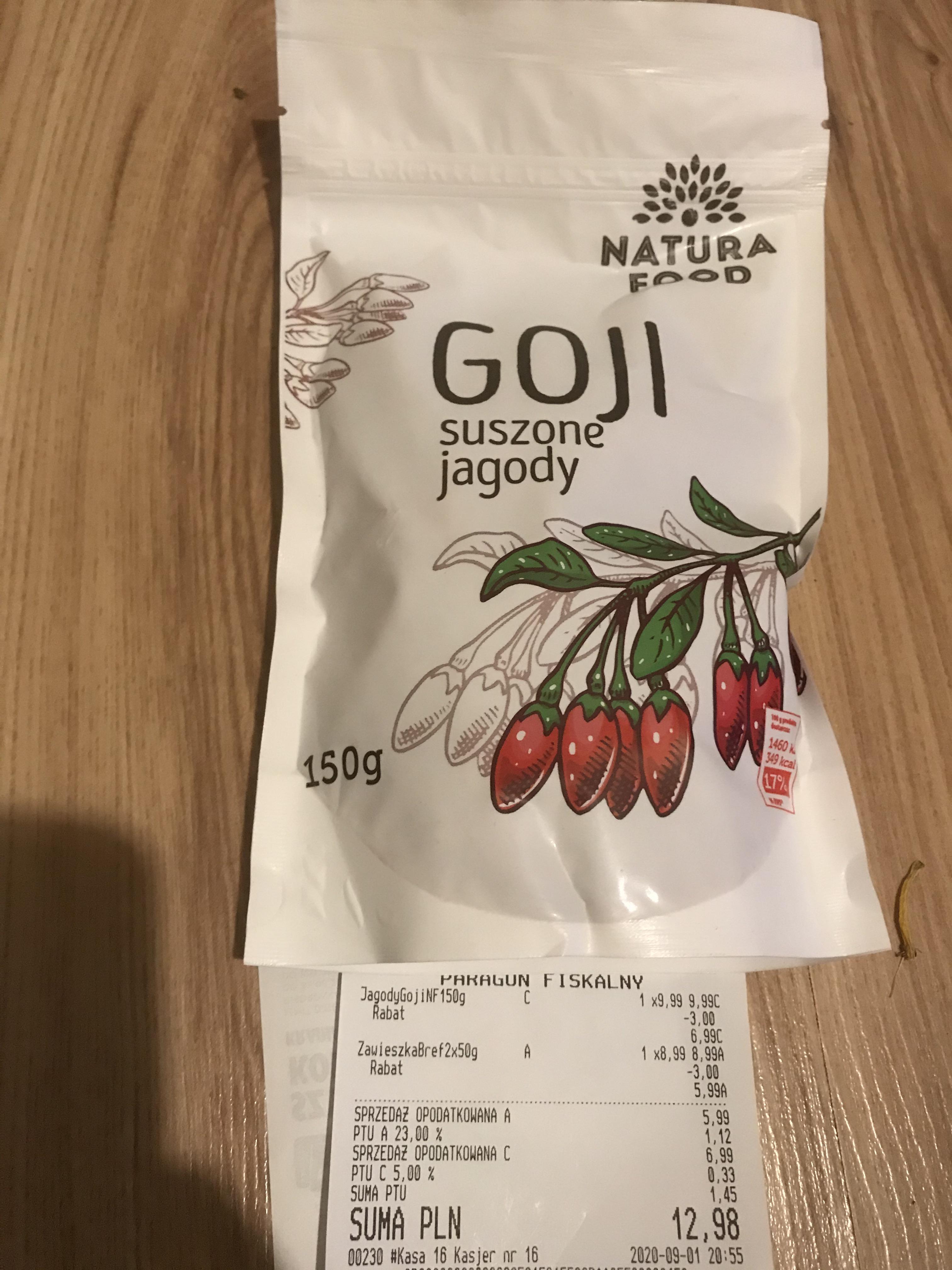 Suszone jagody goji - Biedronka