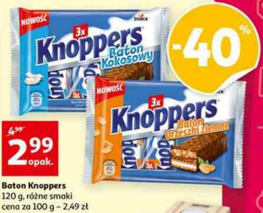 Baton Knoppers 3 x 40g. Auchan