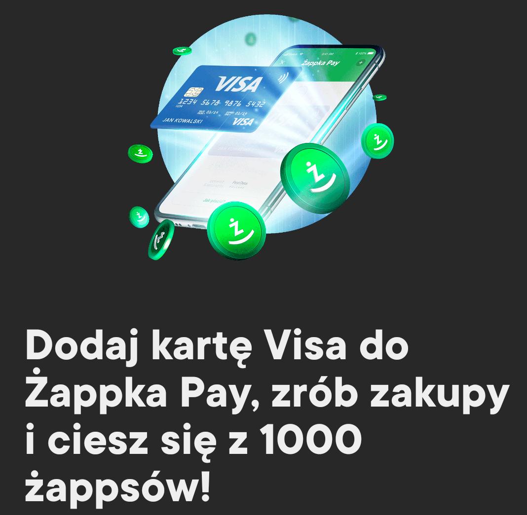 1000 Żappsów za płatność kartą VISA przez Żappka Pay