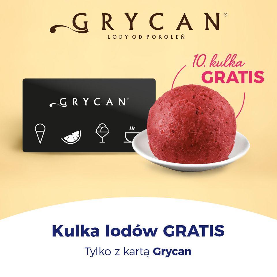 Kulka lodów gratis z kartą Grycan w aplikacji goodie