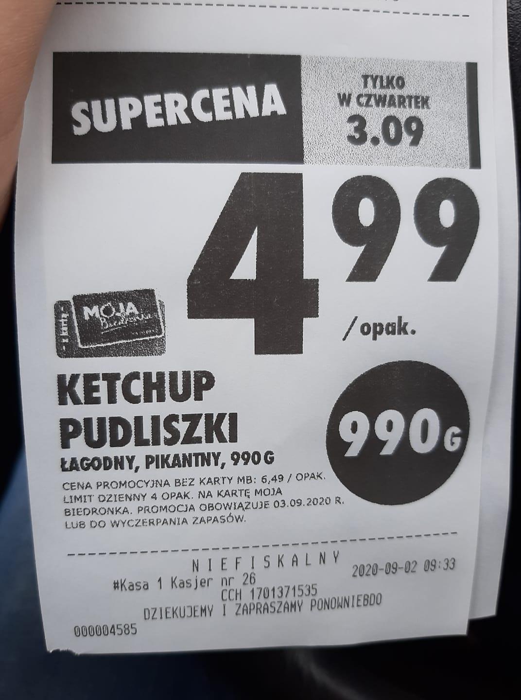 Ketchup Pudliszki - Łagodny lub Pikantny 990g BIEDRONKA