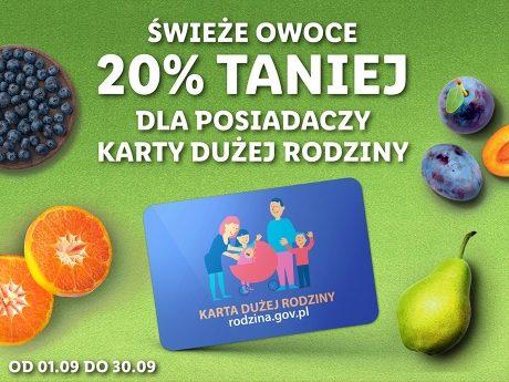 [Lidl] z kartą dużej rodziny świeże owoce 20% taniej