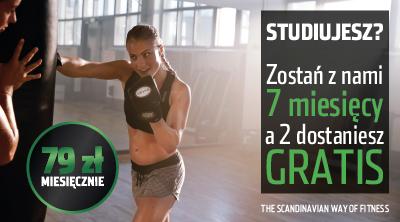 2 miesiące grtatis dla studentów w FitnessWorld