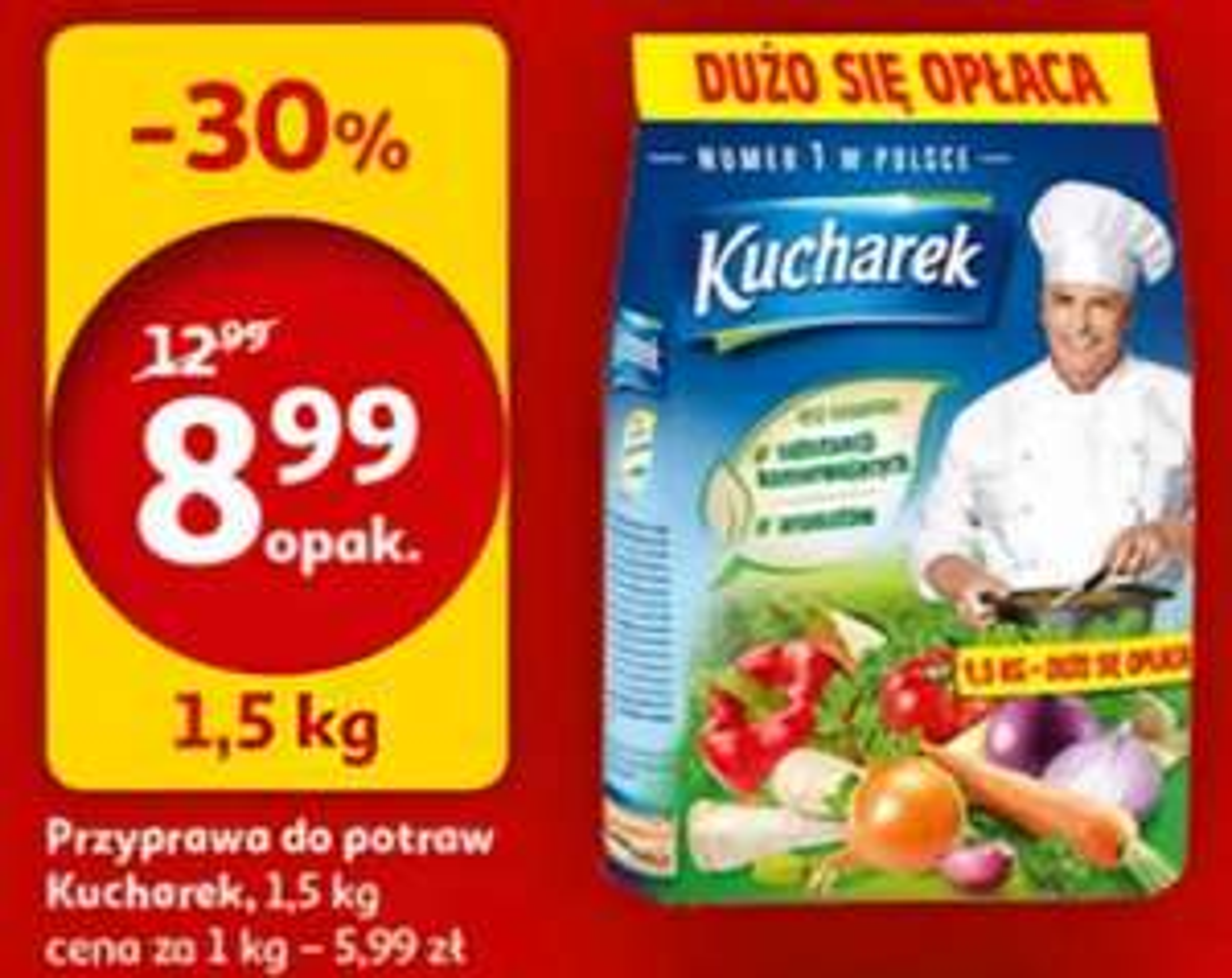 [Auchan] Kucharek 1.5 kg za 8.99 zł