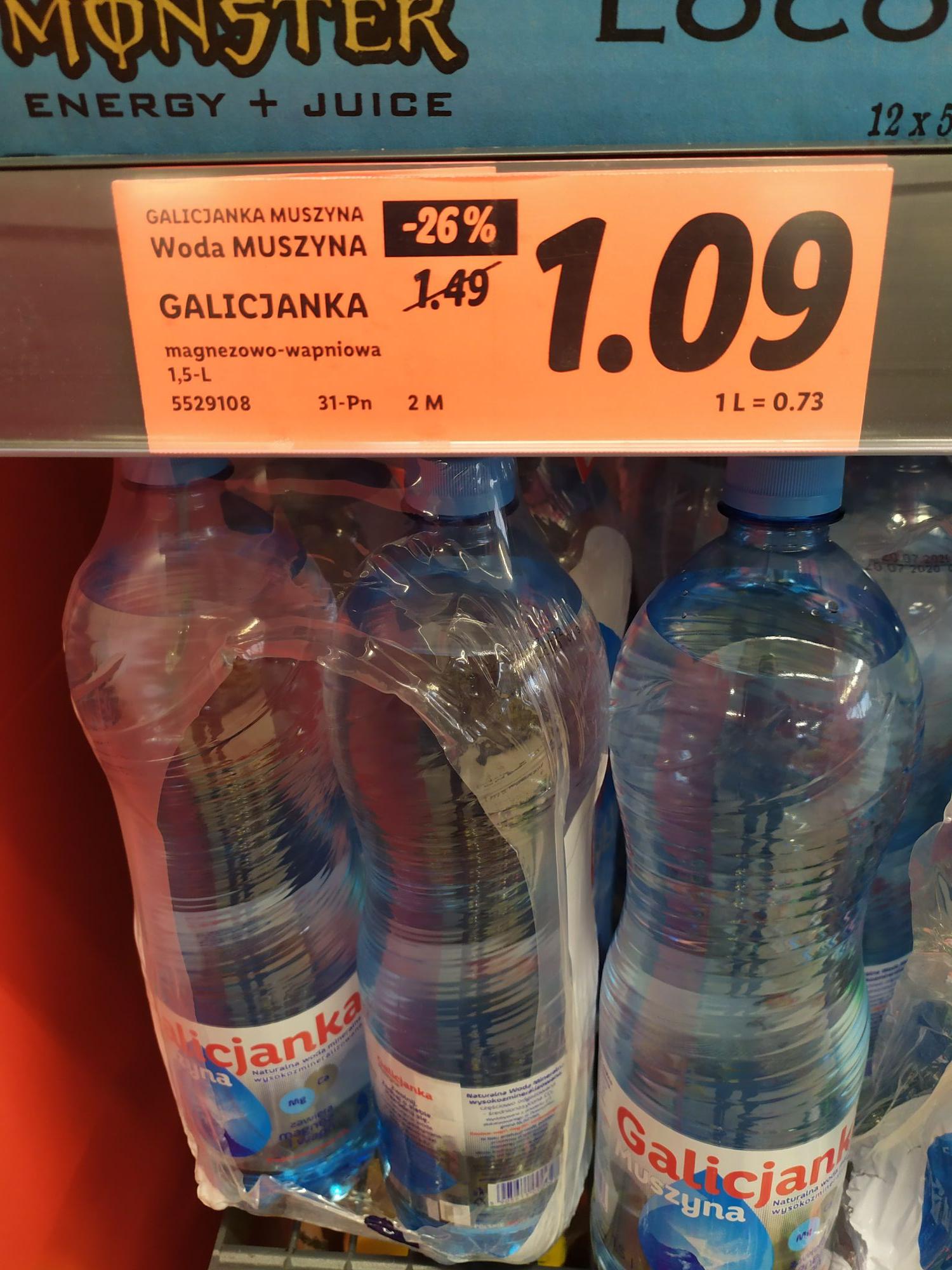 LIDL Woda Muszyna GALICJANKA 1,5 L magnezowo-wapniowa