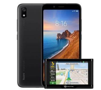 Nnawigacja samochodowa Navitel E500 Magnetic + Smartfon Xiaomi Redmi 7A 2/16GB (mat black)