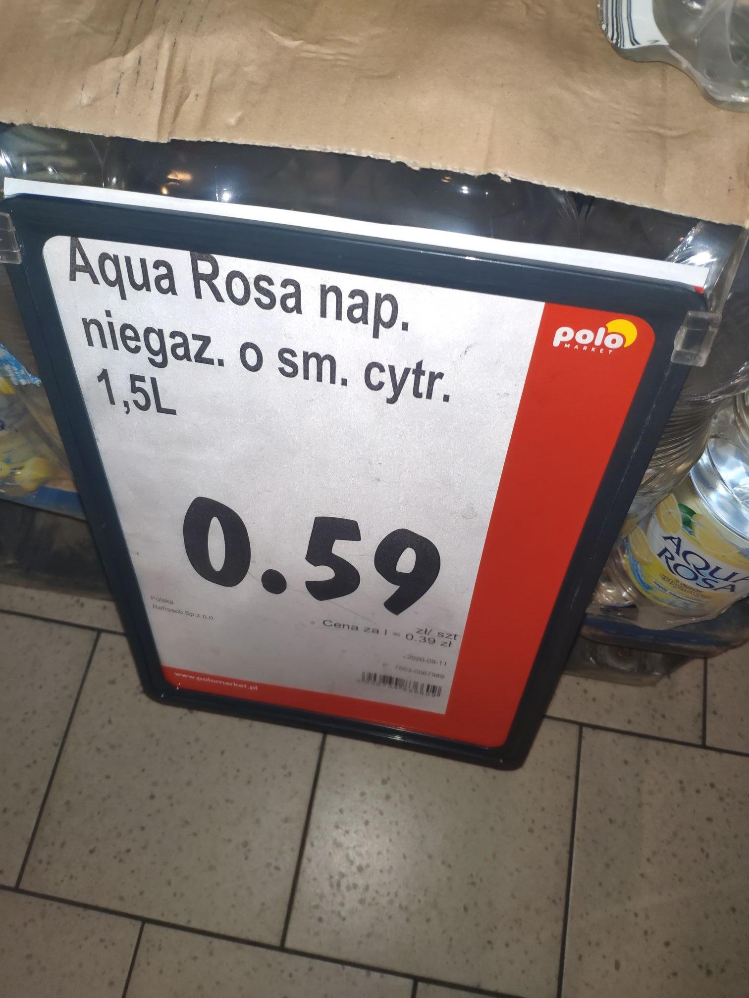 Napój Aqua Rosa cytrynowa 1,5 l za 0,59 zł @Polomarket Zabrze ul Wolności
