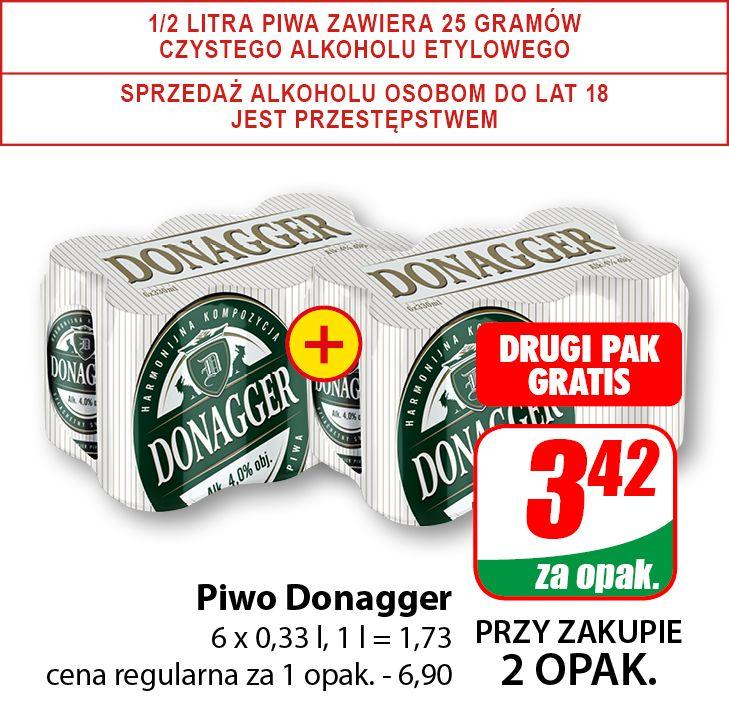 Piwo Donagger 0,33l (cena za 6-pak przy zakupie dwóch opak.) - DINO