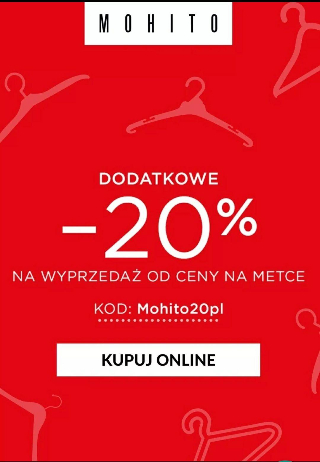 -20% na wyprzedaż od cen na metce @Mohito