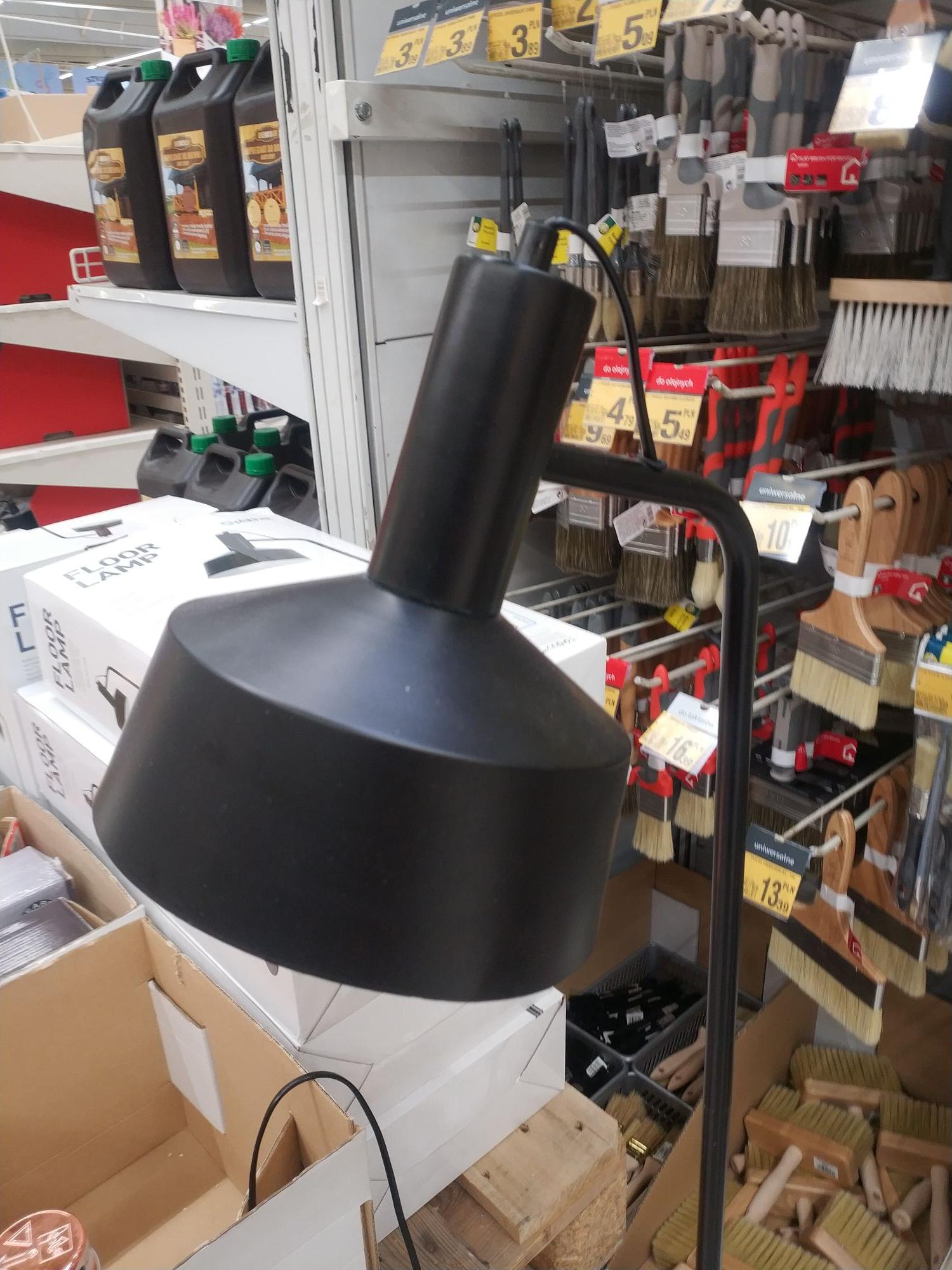 Lampa podłogowa - Platinet Floor Lamp Black (Pfl40132B) Auchan Katowice