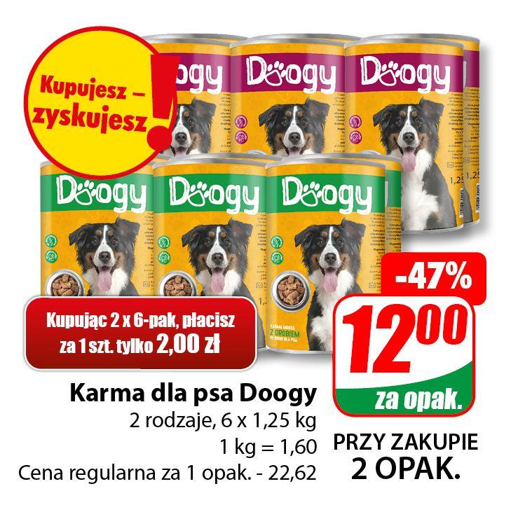 Karma dla psa Doogy 1,25kg (cena za 6-pak przy zakupie dwóch opak.) - DINO
