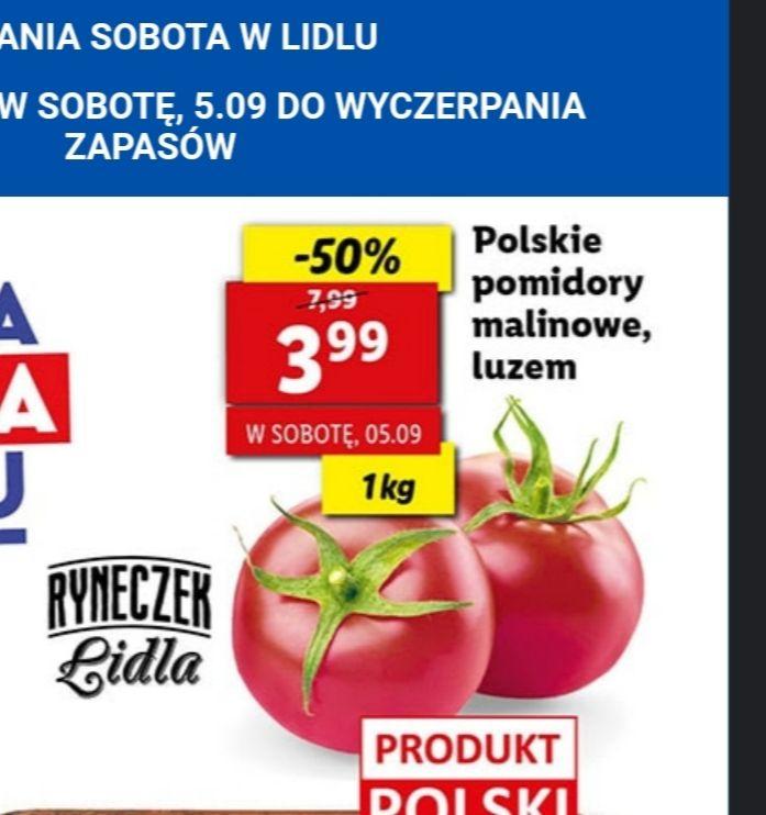 Polskie pomidory malinowe Lidl 3.99/kg