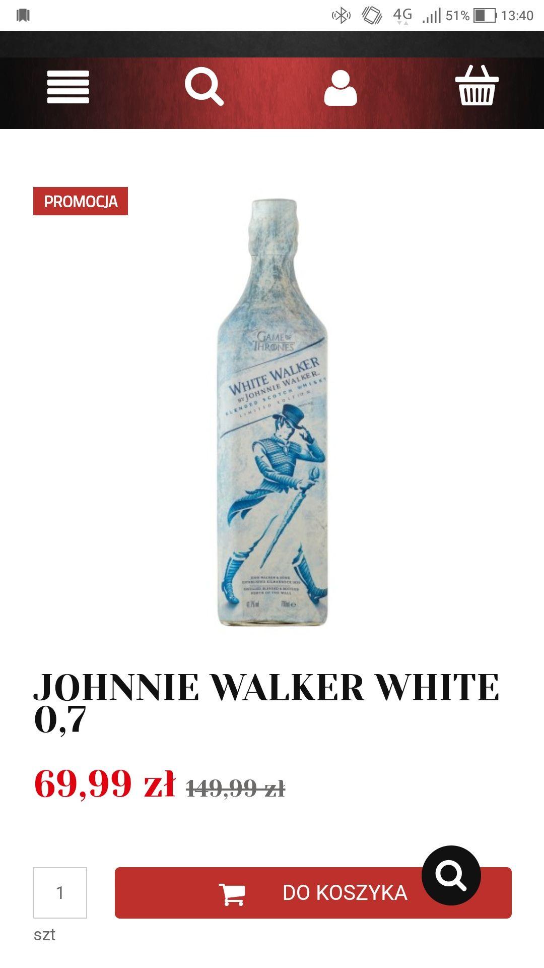 JOHNNIE WALKER WHITE 0,7