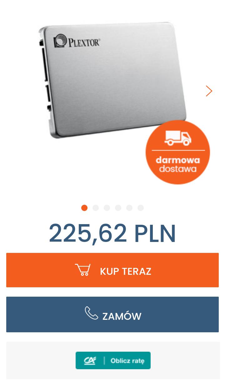 """Plextor Dysk SSD 2,5"""" M8VC TLC 512GB SATA3 560/520 MB/s możliwe 217,37PLN kod rabatowy po zapisaniu się do newslettera"""