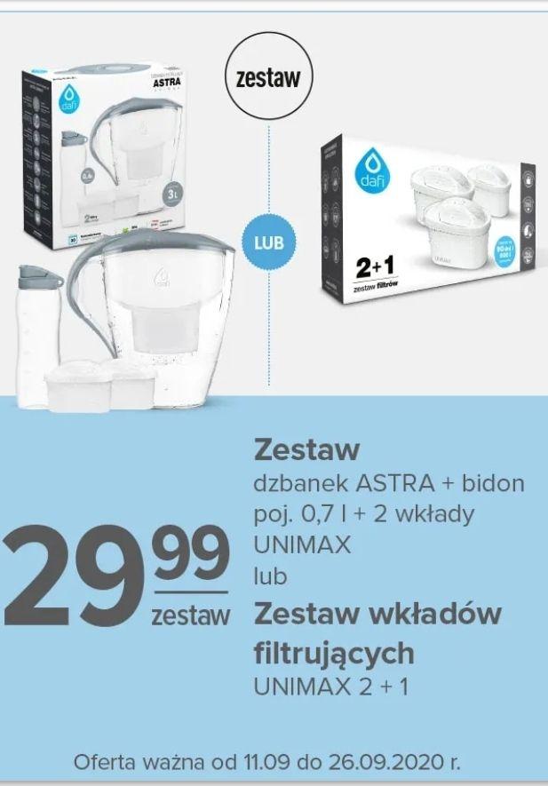 Zestaw DAFI: dzbanek Astra 3l + bidon 0.7l + 2 wkłady unimax - CARREFOUR