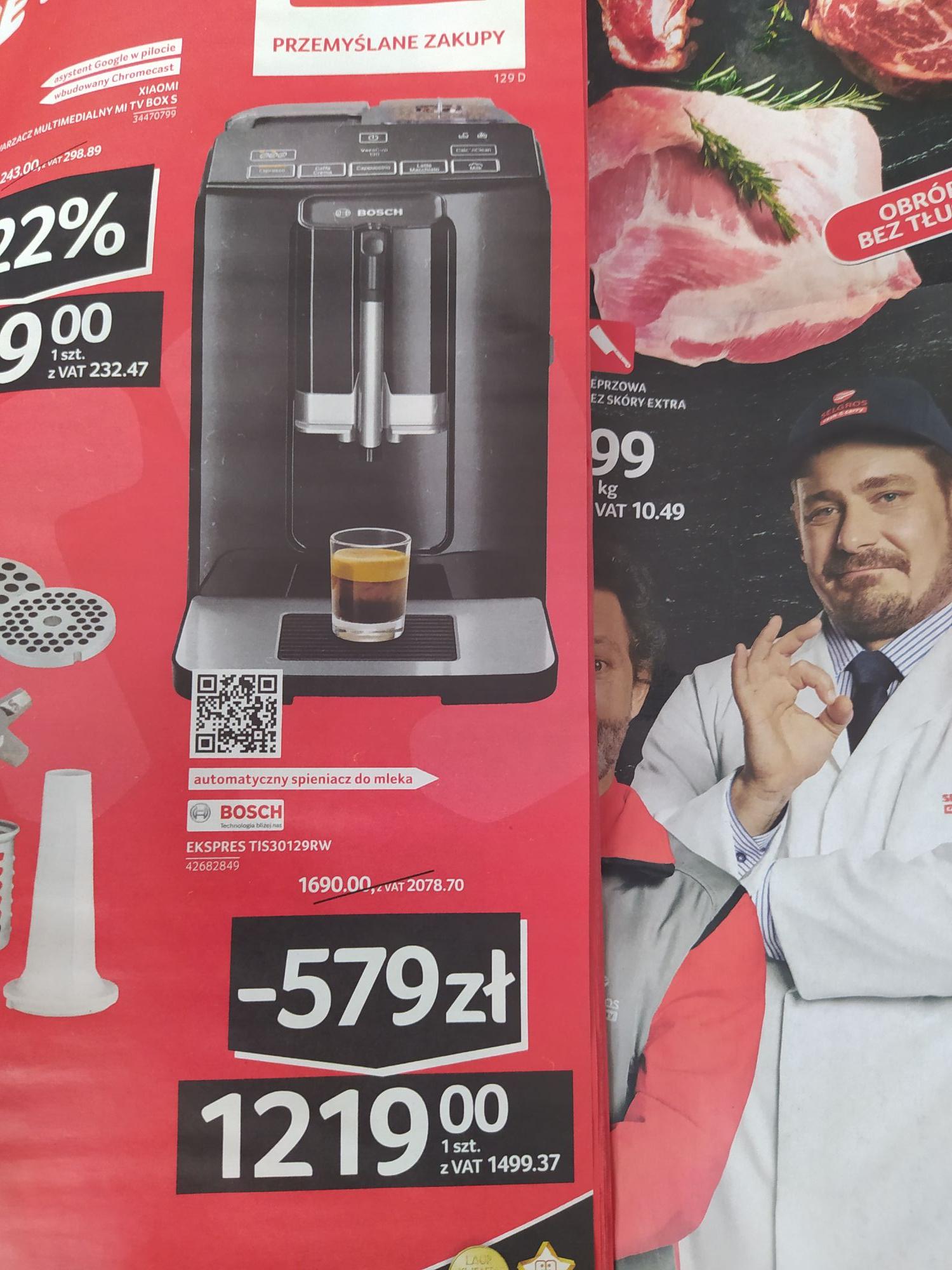 Selgros ekspres do kawy Bosch TIS30129RW