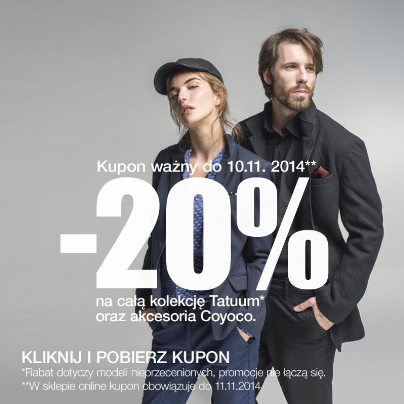 Kupon rabatowy na -20% (za pomocą Facebook'a) @ Tatuum