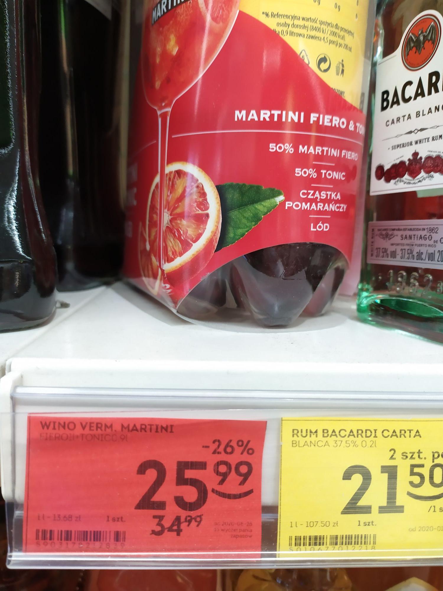 Martini Fiero 1l+tonic 1l Żabka