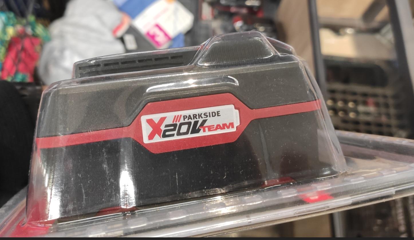 LIDL Baterie Parkside 20V 4Ah w blistrze z opisem i kodem 2 Ah