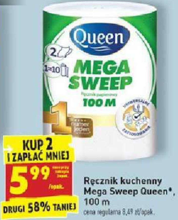 Ręcznik papierowy Mega Sweep 100m przy zakupie 2szt. Biedronka