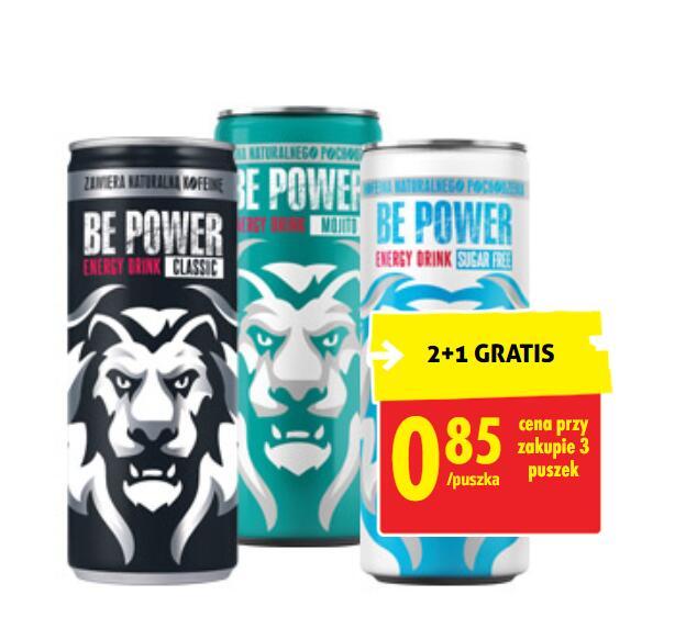 Napój energetyczny Be Power 250ml 2+1 z kartą - Biedronka