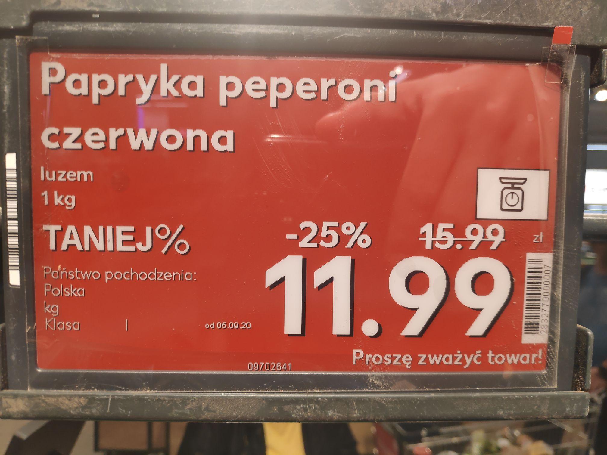 Papryka czerwona pepperoni 11.99 zł/kg @ Kaufland