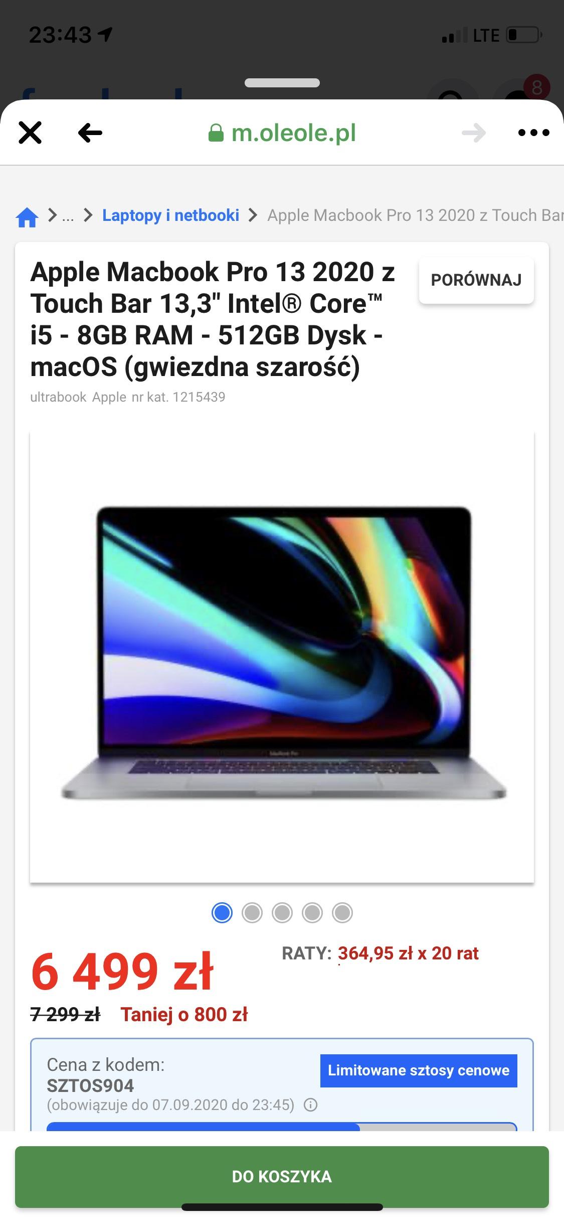 Apple Macbook Pro 13 2020 512GB