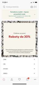 Rabat do -30 % w H&M