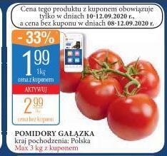 Pomidory gałązka 1,99 zł/kg|Papryka czerw 3,99 zł/kg|Ziemniaki 5 kg 2,99 zł|Gruszki 2,99 zł/kg|Winogrona jas bezp 4,99 zł/kg @Leclerc