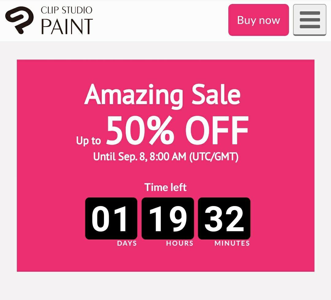 -50% na Clip Studio Paint Pro $25