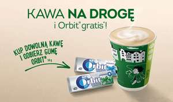 Żabka. Kawa na drogę i guma Orbit gratis!