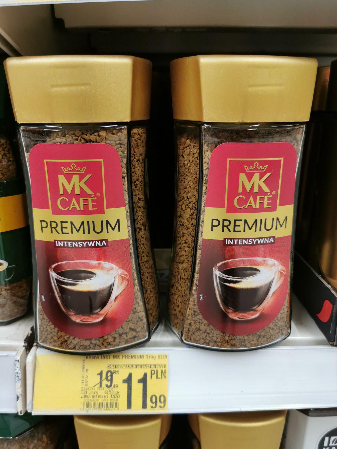 Kawa rozpuszczalna MK Caffe Premium 175g Auchan Bielany Wrocławskie