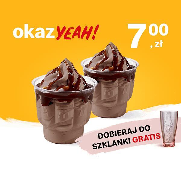 2 x Lody o smaku czekoladowym z polewą