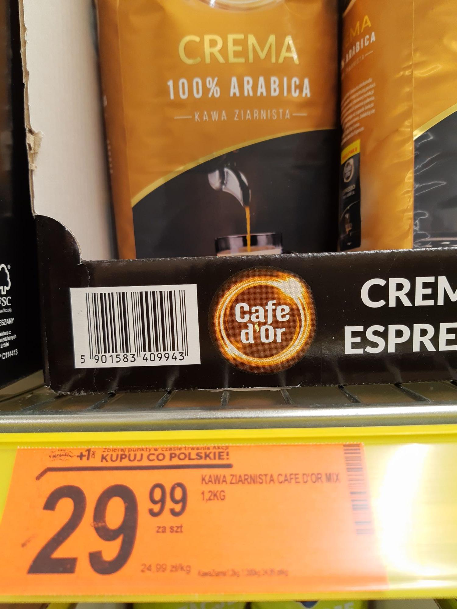 Kawa ziarnista Cafe d'Or CREMA 1,2KG